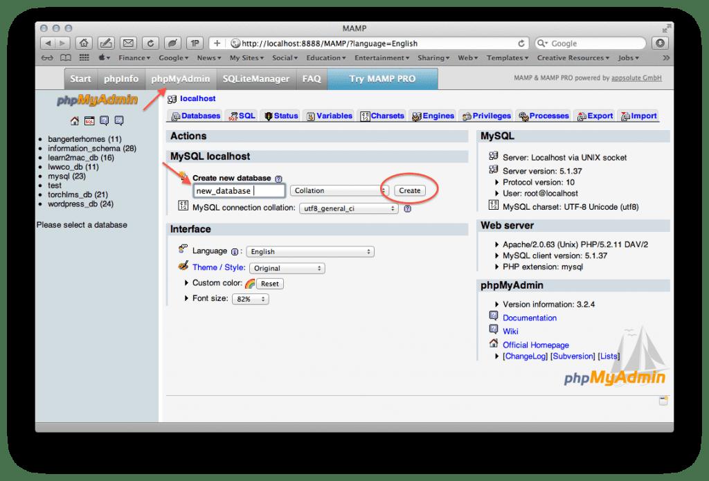 MAMP Database