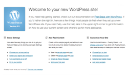Wordpress 3.3 Welcome Screen